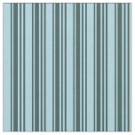 [ Thumbnail: Dark Slate Gray & Light Blue Colored Stripes Fabric ]