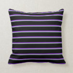 [ Thumbnail: Dark Slate Gray, Light Gray, Purple, and Black Throw Pillow ]