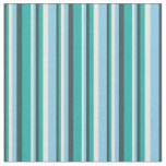 [ Thumbnail: Dark Slate Gray, Light Sea Green, Beige & Sky Blue Fabric ]