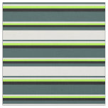 [ Thumbnail: Dark Slate Gray, Light Yellow, Light Green & Black Fabric ]