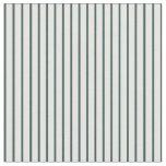 [ Thumbnail: Dark Slate Gray & Mint Cream Colored Stripes Fabric ]