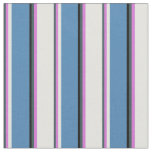 [ Thumbnail: Dark Slate Gray, Orchid, Light Cyan, Blue & Black Fabric ]
