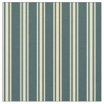 [ Thumbnail: Dark Slate Gray & Pale Goldenrod Lined Pattern Fabric ]