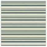 [ Thumbnail: Dark Slate Gray & Pale Goldenrod Lined Pattern Fabric ]