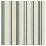 [ Thumbnail: Dark Slate Gray & Pale Goldenrod Stripes Pattern Fabric ]