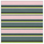 [ Thumbnail: Dark Slate Gray, Pink, Green, and Black Colored Fabric ]