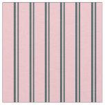 [ Thumbnail: Dark Slate Gray & Pink Pattern Fabric ]