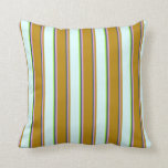 [ Thumbnail: Dark Slate Gray, Plum, Dark Goldenrod, Cyan, Green Throw Pillow ]