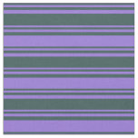[ Thumbnail: Dark Slate Gray & Purple Pattern of Stripes Fabric ]
