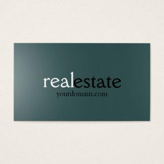 Dark Slate Gray Real Estate Agent Business Card