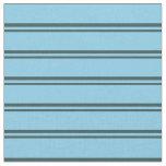 [ Thumbnail: Dark Slate Gray & Sky Blue Striped/Lined Pattern Fabric ]