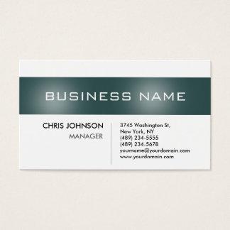 Dark Slate Gray Stripe White Charm Business Card
