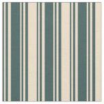 [ Thumbnail: Dark Slate Gray & Tan Colored Stripes Fabric ]