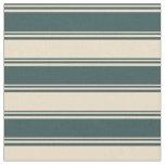 [ Thumbnail: Dark Slate Gray & Tan Colored Stripes Pattern Fabric ]