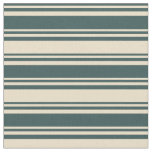 [ Thumbnail: Dark Slate Gray & Tan Lines/Stripes Pattern Fabric ]