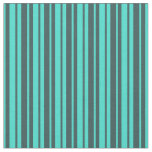 [ Thumbnail: Dark Slate Gray & Turquoise Colored Pattern Fabric ]