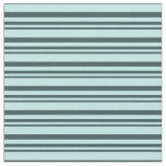 [ Thumbnail: Dark Slate Gray & Turquoise Stripes/Lines Pattern Fabric ]