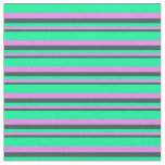 [ Thumbnail: Dark Slate Gray, Violet, and Green Colored Lines Fabric ]