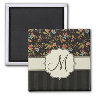 Dark Slavic Style Floral Fridge Magnets