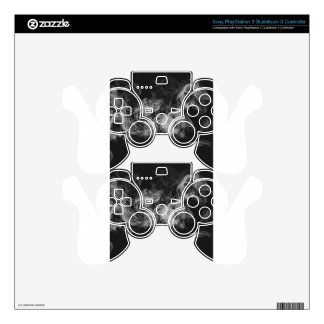 dark smoke decal for PS3 controller