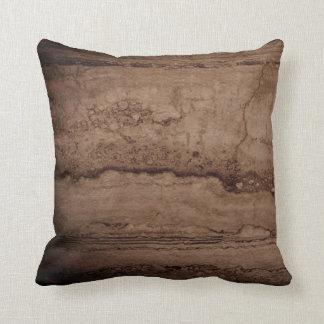 Dark Smokey grey Granite Throw Pillow