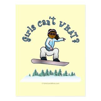 Dark Snowboarder Postcard