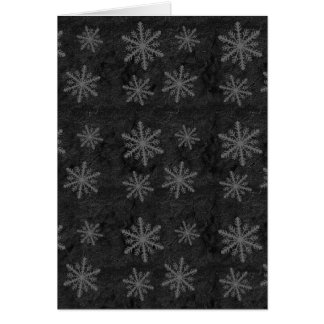 Dark Snowflake Pattern 1 Christmas Holiday Card