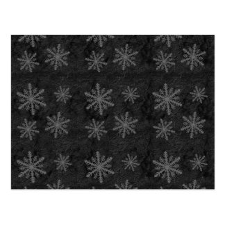 Dark Snowflake Pattern 1 Christmas Holiday Postcard