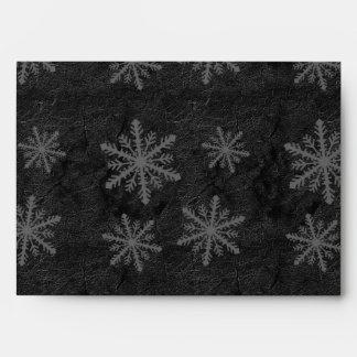 Dark Snowflake Pattern 1 - Envelope