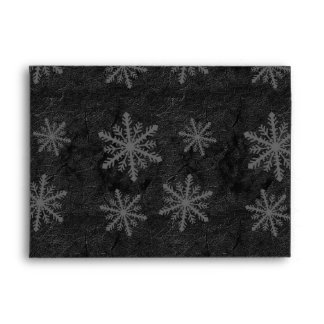 Dark Snowflake Pattern 1 - Envelope Happy Holidays