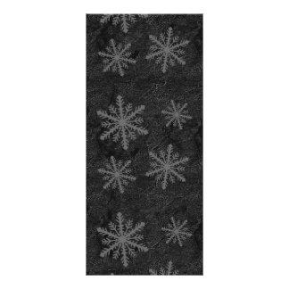 Dark Snowflake Pattern 1 Rack Card