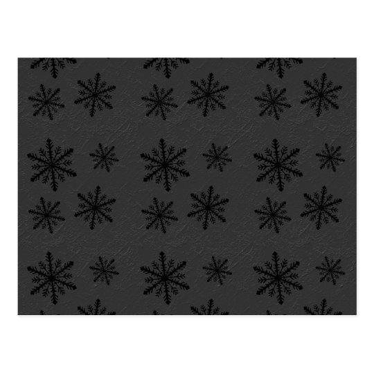 Dark Snowflake Pattern 2 Christmas Holidays Postcard