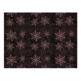 Dark Snowflake Pattern Red Christmas Holidays Postcard