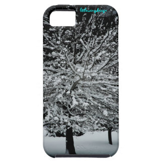 Dark Snowy Tree iPhone 5 Case-Mate Case