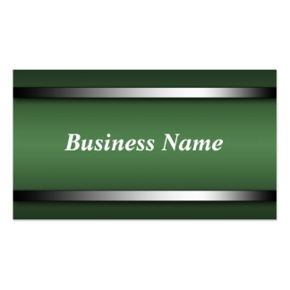 Dark Sophisticated Green business cards