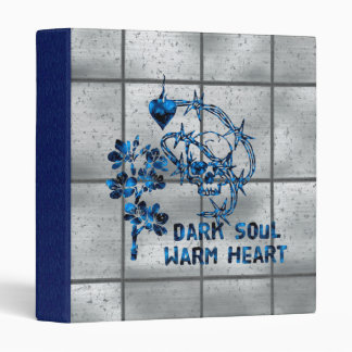 Dark Soul Skull 3 Ring Binder