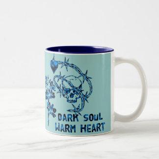 Dark Soul Skull Two-Tone Coffee Mug