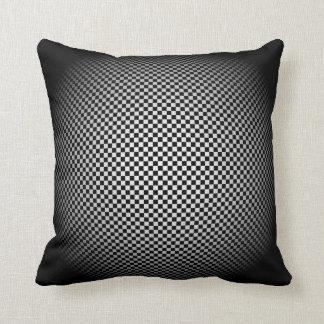 Dark Sphere Light Sphere Checkerboard Pillow