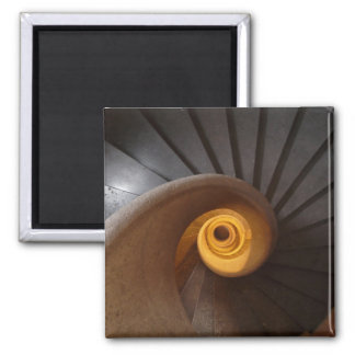 Dark Spiral Stairs Photo 2 Inch Square Magnet