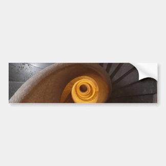 Dark Spiral Stairs Photo Bumper Sticker