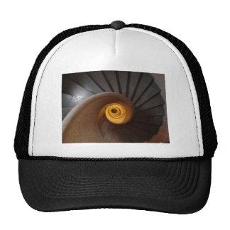 Dark Spiral Stairs Photo Trucker Hat