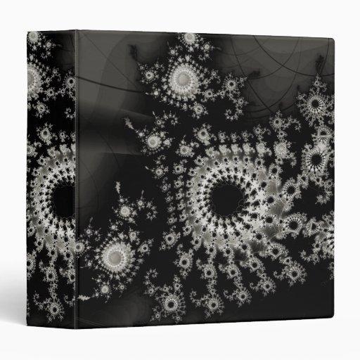 Dark Spirals Fractal Vinyl Binder