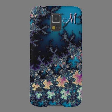 Dark Spring Fractal Monogram Galaxy S5 Case