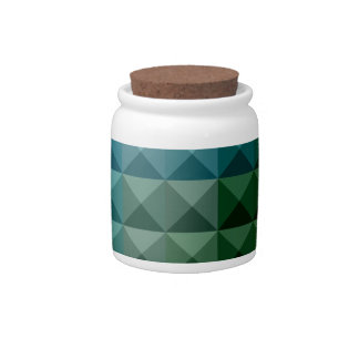Dark Spring Green Abstract Low Polygon Background Candy Dishes