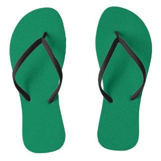 DARK SPRING GREEN (solid color) ~ Flip Flops