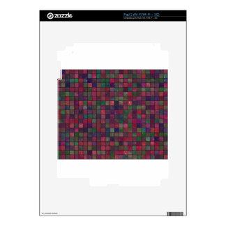 Dark squares iPad 2 skins
