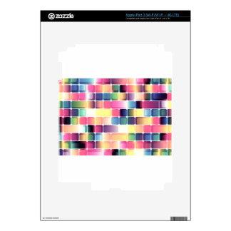 Dark squares iPad 3 skin