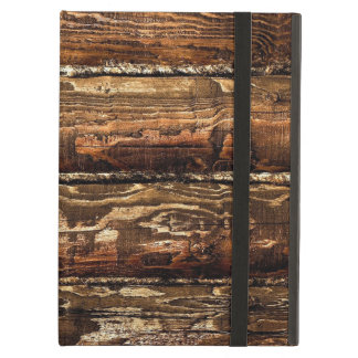 DARK STAINED WOOD WALL COVER FOR iPad AIR