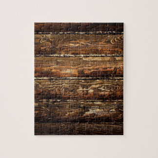 DARK STAINED WOOD WALL JIGSAW PUZZLE