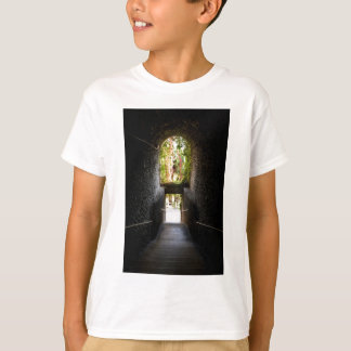 Dark stairs with a stone archway that going down T-Shirt